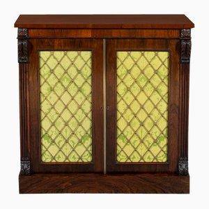 19th-Century Rosewood Two-Door Side Cabinet