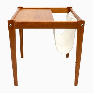 Danish Teak and Linen Side Table from Furbo, 1960s
