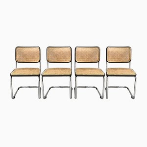 Cesca B32 Side Chairs by Marcel Breuer for Thonet, 1970s, Set of 4
