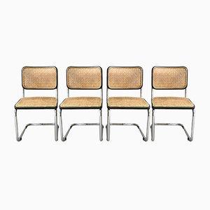 Chaises d'Appoint Cesca B32 par Marcel Breuer pour Thonet, 1970s, Set de 4