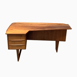 Danish Mirror and Teak Desk by Peter Løvig Nielsen for Løvig, 1960s