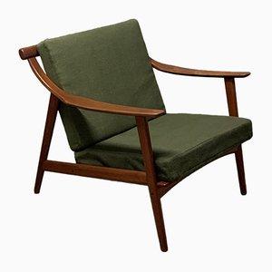 Dänische Sessel mit Gestell aus Teak & Sitzpolster mit Wollbezug von Arne Hovmand-Olsen für Mogens Kold, 1960er, 2er Set