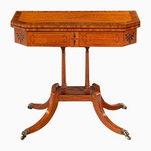 Mesa de juego George III antigua de latón y palisandro