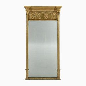 Specchio grande Regency in legno dorato, XIX secolo