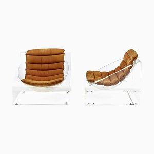 Italienische Toy Sessel aus Plexiglas von Rossi Molinari für Totem, 1968, 2er Set