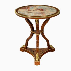 19th Century Kingwood & Ormolu Mounted Marble Side Table