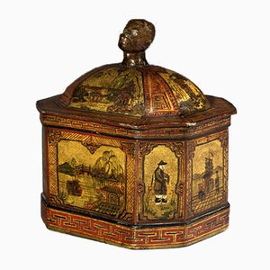 19th Century Lead Tobacco Jar
