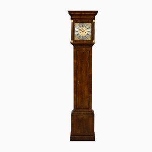 18th-Century George III Walnut Longcase Clock by Richard Lewis of Wincanton