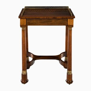 19th-Century Regency Rosewood & Brass Side Table