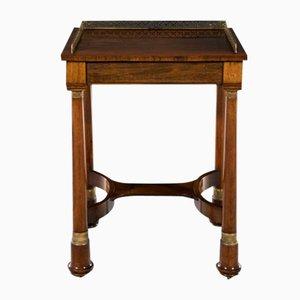Table d'Appoint Regency en Palissandre et Laiton, 19ème Siècle