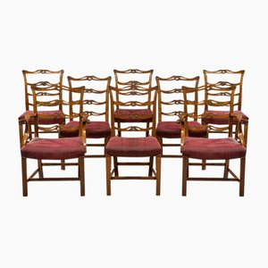 Antique Mahogany Dining Chairs, Set of 8