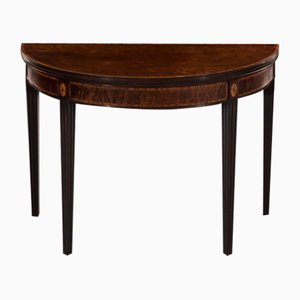 Antique Mahogany and Satinwood Console Table