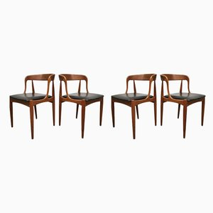 Danish Skai and Teak Dining Chairs by Johannes Andersen for Uldum Møbelfabrik, 1960s, Set of 4
