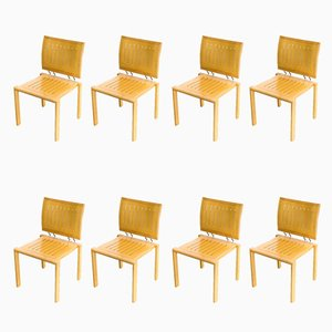Quadro W Dining Chairs by Bruno Rey & Charles Polin for Dietiker, 1980s, Set of 8