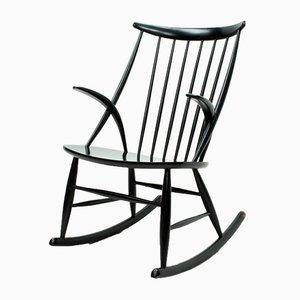 Rocking Chair Modèle IW3 par Illum Wikkelsø pour Niels Eilersen, Danemark, 1950s