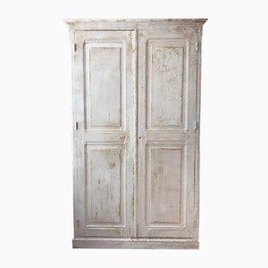 Antike französische Garderobe aus Pinienholz