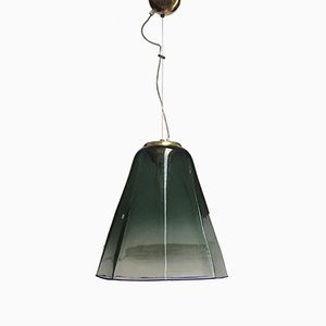 Italienische Deckenlampe aus Muranoglas von Leucos, 1960er