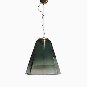 Lámpara de techo italiana de cristal de Murano de Leucos, años 60