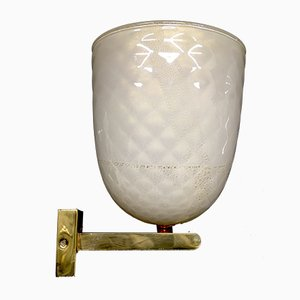 Italian Brass and Murano Glass Sconce from Seguso, 1960s