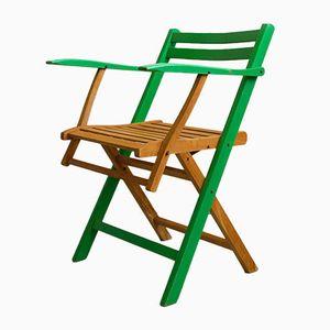 Antique Art Nouveau German Folding Garden Chairs, 1910s, Set of 4