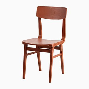 Vintage Beech Wood Dining Chair, 1970s