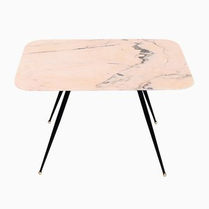 Mid-Century Italian Pink Marble Coffee Table, 1950s