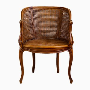 Antique French Braided Armchair, 1850s