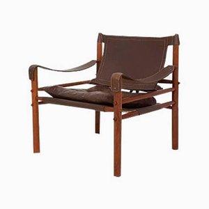 Sessel aus Leder & Holz von Arne Norell für Scanform, 1960er