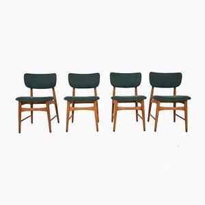 Niederländische Esszimmerstühle aus Eichenholz von Bovenkamp, 1960er, 4er Set