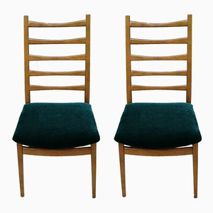 Mid-Century Green Velvet Dining Chairs from Welzel, 1960s, Set of 2