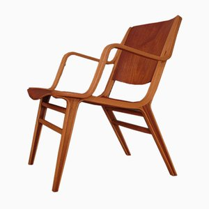 Scandinavian Modern Danish AX Lounge Chair by Peter Hvidt & Orla Mølgaard-Nielsen for Fritz Hansen, 1950s