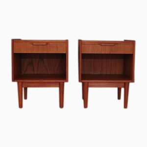 Danish Nightstands by Gunnar Nielsen Tibergaard for Tibergaard, 1960s, Set of 2
