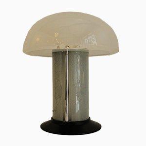 Lámpara de mesa italiana de vidrio opalino de Federico de Majo, años 80