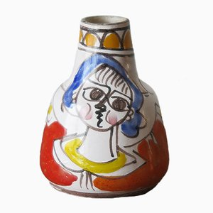 Italienische Mid-Century Keramikvase von Giovanni De Simone, 1960er