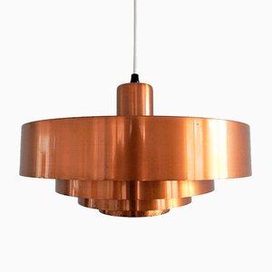 Lámpara de techo Roulet danesa de cobre de Johannes Hammerborg para Fog & Mørup, años 60