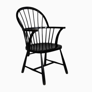 Black Oak CH-18A Windsor Chair by Frits Henningsen for Carl Hansen, 1940s