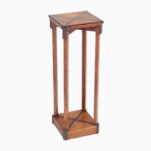 Mesa pedestal Escuela de la Haya Art Déco de roble, años 20