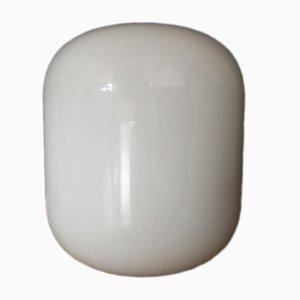 Italienische Vintage Stehlampe aus weißem Muranoglas, 1971