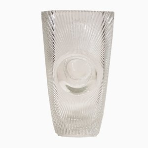 Large Glass Osaka Vase by Rudolf Jurnikl for Libochovice, 1960s