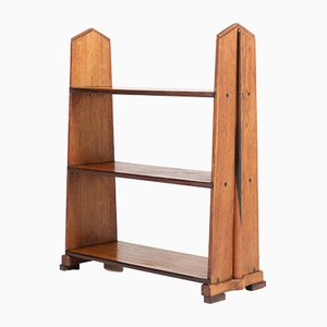 Art Deco Amsterdam School Oak Bookshelf by Piet Izeren for De Genneper Molen, 1920s
