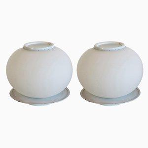 Italienische Vintage Tischlampen aus Muranoglas von Mazzega, 1970er, 2er Set