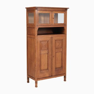 Antique Art Nouveau Oak Bookcase by A.R. Wittop Koning for J.A. Huizinga