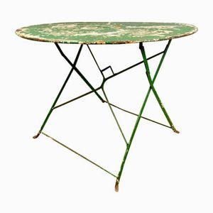 Französischer Mid-Century Gartentisch aus Metall & Lack, 1950er