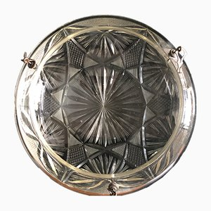 Crystal and Cut Glass Ceiling Lamp, 1930s