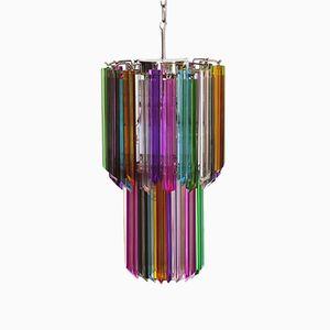 Lámpara de araña Mariangela italiana vintage de cristal de Murano, 1982