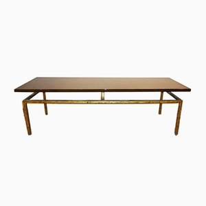 Mid-Century French Iron Coffee Table by Roger Thibier, 1960s