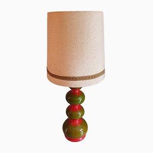 Lámpara de pie alemana era espacial vintage de cerámica de Kaiser, años 70