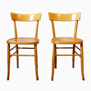 Italienische Vintage Osteria Stühle aus Buche, 1970er, 2er Set