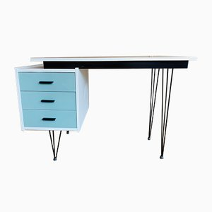 Schreibtisch aus Metall & Holz von Cees Braakman für Pastoe, 1950er