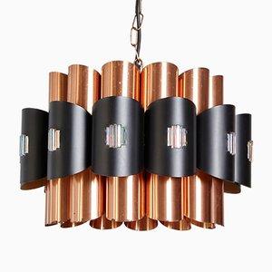 Lámpara de techo danesa de metal de Werner Schou para Coronell, años 70